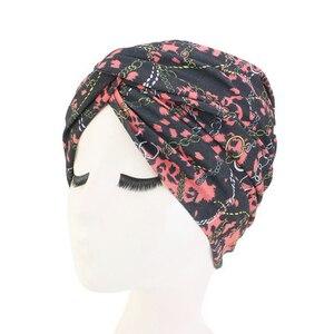 Image 5 - Головной убор для мусульманских женщин, стрейчевая хлопковая ткань, Φ тюрбан, головной убор для пациентов с раком
