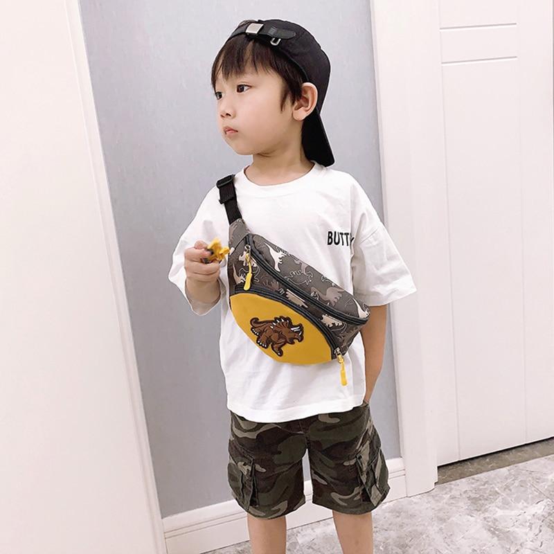New Waist Bags For Kids Chest Bag Dinosaur Kids Fanny Pack High Capacity Funny Bags Unisex Banana Bags Shoulder Kidney Bags