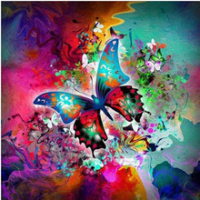 5D DIY Diamond Flower Butterfly Embroidery Cross-stitch Mosaic Full Painting Home Decoration Gift