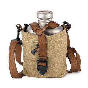 Image 5 - Keith Titanium Lunch Box Army Military Water Bottle Pot Canteen Mess Kit Set 268g 1.7L+0.7L w/ Camo Bag Ti3060 Drop Shipping