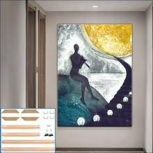 Современная Абстрактная фигурка картина плакаты Настенная рамка