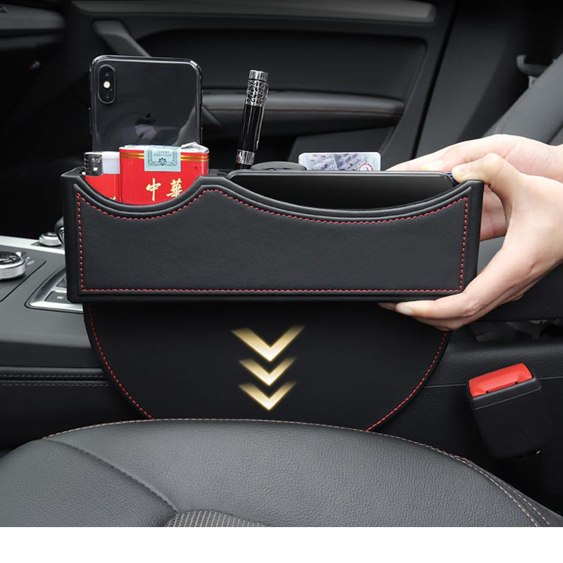 Lsrtw2017 Cow Leather Car Seat Gap Storage Box for Audi Interior Accessories in Interior Mouldings from Automobiles Motorcycles