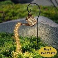 Lámparas solares impermeables para decoración de jardín, luces LED con brillo de estrellas, guirnalda de hadas para decoración de calle al aire libre