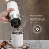 Portable Electric Coffee Maker USB Stainless Steel Liner Auto Coffee Machine Built in Filter Cup Coffee Grinders For Home Travel