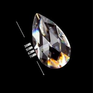 76mm 89mm 100mm 1pc limpar lágrima gota lustre peças prismas de cristal acessórios decoração para casa