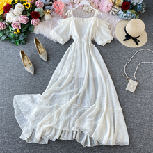 New Fashion Women Maxi Dress 2020 Summer Off Shoulder Ruffles Party Long Dress Vestidos Mujer Ladies