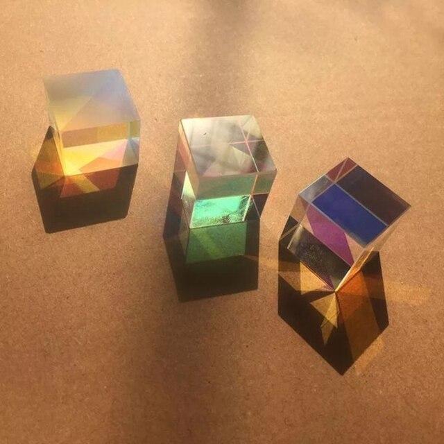 оптическая цветовая призма 18 мм шестигранный яркий светильник фотография