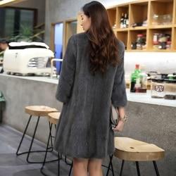 Natural Mink Fur Coat Winter Warm Thick Long Double Faced Fur Jacket Casaca Para Mujer Invierno 2020 AR16D16015 MF376