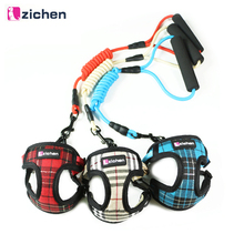 Adjustable Nylon Dog Harness Vest Denim Satin Mesh Thicken Fabric Foam Comfort Handle For Medium Small Pets Accessories 3 Colors