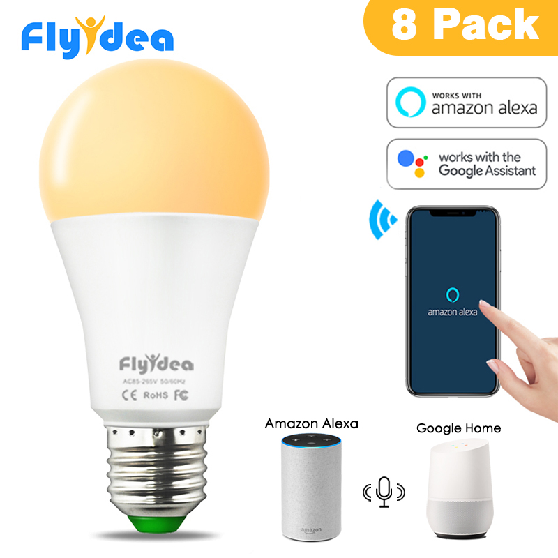4pcs 8pcs 15W E27 LED Light Bulb Equal to 100W Incandescent Lamp Smart WiFi Voice Control Compatible Alexa and Google Assistant