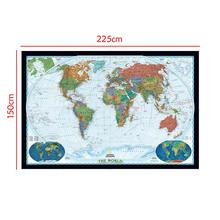 150x225cm The World Physical Map With Land Cover And Landforms  Waterproof