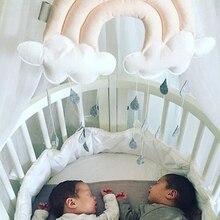 Новорожденный облако Радуга капля настенные игрушки Детская кровать палатка подвеска Подвесная игрушка для кроватки украшение для детской комнаты реквизит для фотосессии