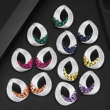 GODKI nowy koreański styl śliczne Waterdrop stadniny kolczyki dla kobiet 2020 nowych moda słodkie kolczyki Femme Brinco hurtownia biżuterii