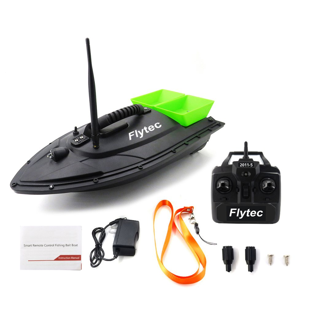2019 NEW Flytec 2011-5 Fishing Tool Smart RC Bait Boat Toy Dual Motor Fish Finder Fish Boat Remote Control Fishing Boat