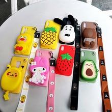 Cute Cartoon Zipper Wallet Soft Phone Case For Xiaomi Mi CC9 8 Lite 9 SE 6 6X A2