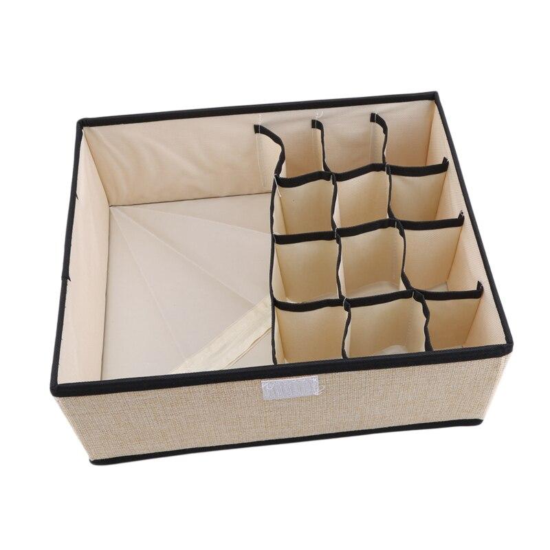 13 Grid Multi-Funktions Unterwäsche Lagerung Box Stoff Bedeckt Lagerung Box Waschbar Socken Unterwäsche Lagerung Box