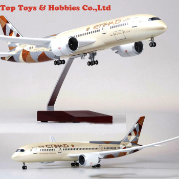 ETIHAD Airway Boeing 787 Passange Plane with LED Light Al-Ittihad Airplane LED Light Airplane B787 Airforce Model 2017 inflatable mushroom model with led light