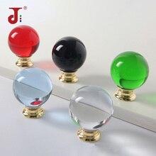 Кристальная ручка с одним отверстием в форме шара, натуральный цвет, ручки для дверей шкафа, мебельные ручки, ручки для раздвижных дверей, ручки для шкафа