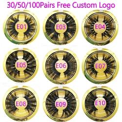 30/50/100 Pairs 25mm Lashes Vip Momo Eyelashes 3D Mink Lashes Handmade Dramatic Lashes Cruelty Free Mink Lashes Free Custom Logo