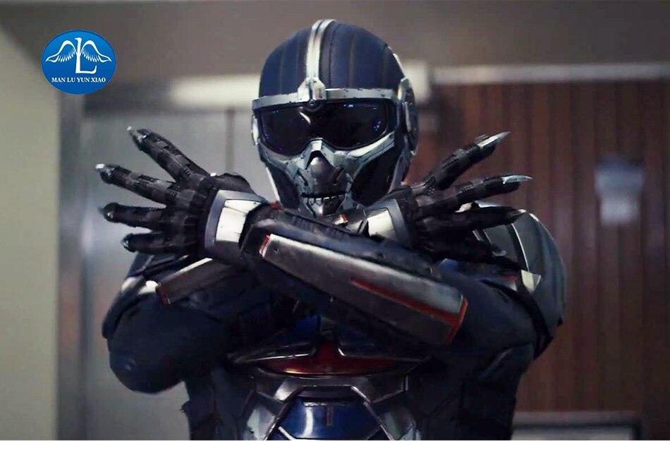 Super-herói preto taskmaster viúva cosplay traje homem