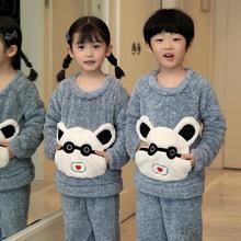 Зимняя детская одежда пижамные костюмы с рисунком Микки для девочек теплая плюшевая домашняя одежда для мальчиков утолщенная одежда для сна детские пижамы для девочек