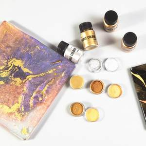 Jewelry-Making Metal-Powder Colour Gouache Pigment Epoxy Pearlescent Gold Bright Resin