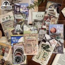 Mr.paper 8 Designs 60Pcs/lot Granny Chic Deco Stickers Scrapbooking Bullet Journal Toy Retro Album DIY Stationery