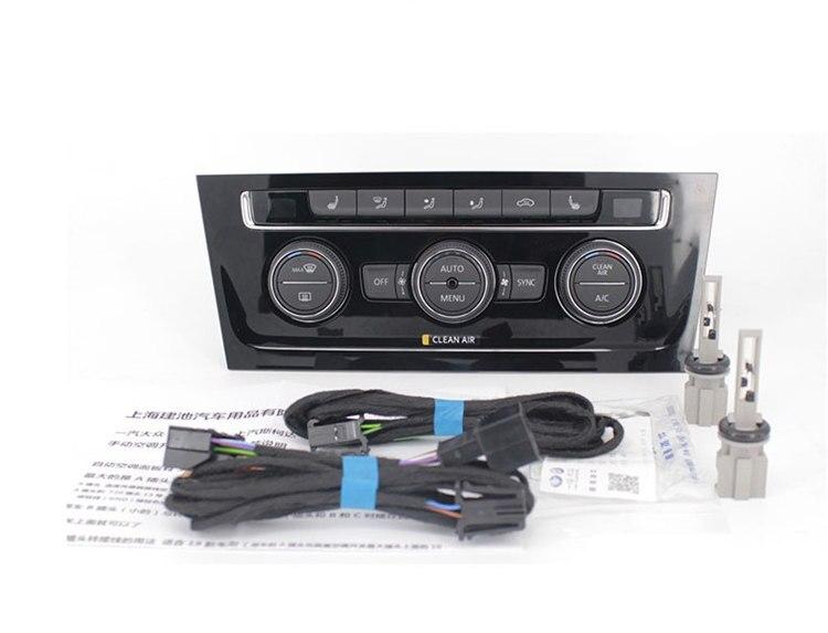 Para vw golf 7 manual do condicionador de ar interruptor de atualização pacote interruptor de condicionador de ar automático