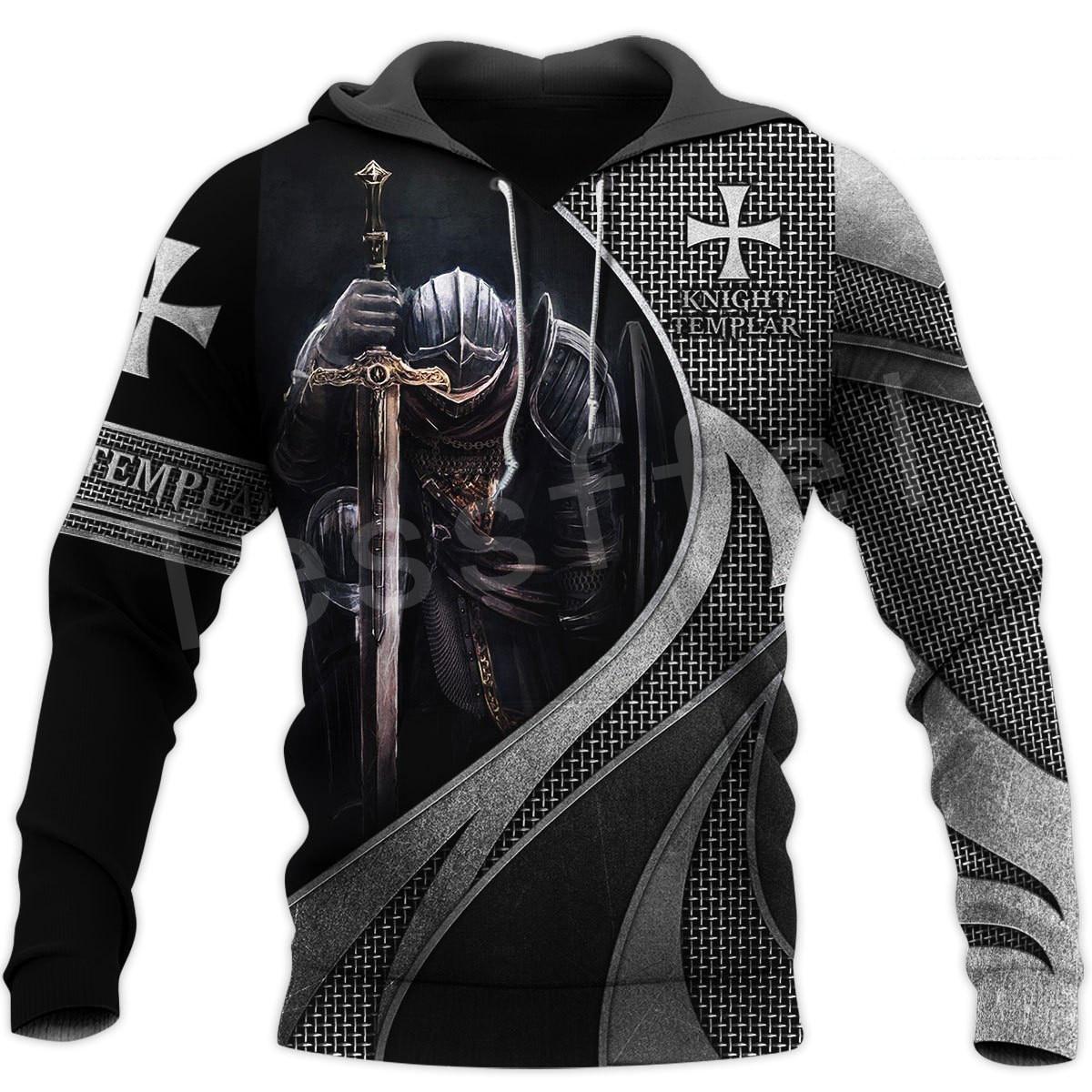 Tessffel Knight Templar Armor Streetwear Harajuku Pullover NewFashion Funny 3DPrint Zip/Hoodies/Sweatshirts/Jacket/Men/Women A-9