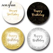 Sensfun 4 Options Glitter Round Circle Backdrops For Photo Studio Gold Black White Silver Happy Birthday Photography Backgrounds