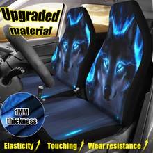 Thicker 3D Wolf Seat Covers For Car Universal All-inclusive Elastic Cushion Protection Cover Auto Accessories Car Interiors