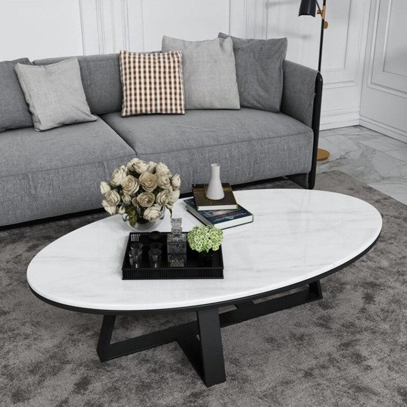 Nordic Marble Coffee Table Modern Minimalist Small Living Room