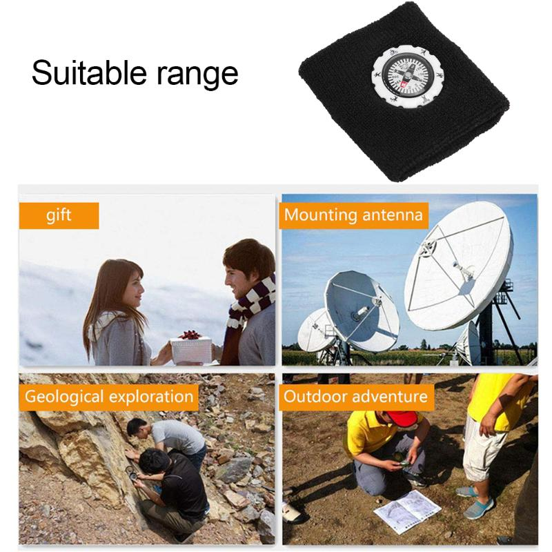 Durable Compass Fashion Sweat Band / Survival Wristband Bracelet for Outdoor Camping/Hunting/Hiking 4