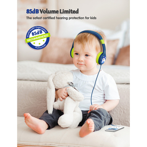 Image 2 - Mpow CH1 Kids Headphones 85dB Volume Limited Wired Headset Cute Panda Over Ear Hearing Protection Headphone With Mic For Teens