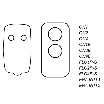 Flor-s FLO2R-S FLO2RE 433.92MHz Rolling Code Remote controller transmitter Garage Gate door Opener for gate control - discount item  40% OFF Access Control