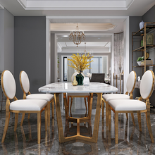 Domestic-Light Dining-Table Marble Chair-Combination Modern Luxury Small And Nordic Rectangular
