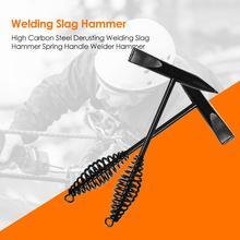 300g High Carbon Steel Derusting Welding Slag Hammer Spring Handle Welder Hammer
