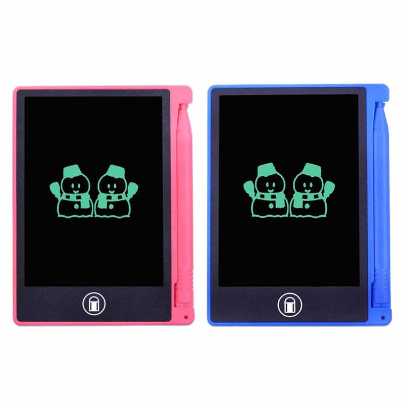 2 Pcs 4.4 Inch Lcd Writing Tablet Digital Graphic Tablet Electronic Handwriting Drawing Pad Notepad Paint Board Toys For Kids Gi