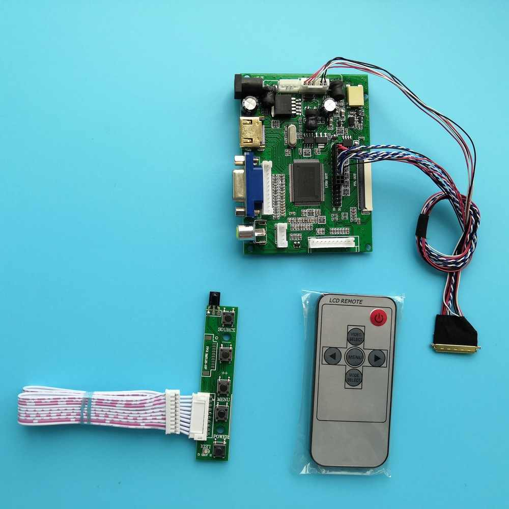 "Voor LTN156AT05 40pin 2AV Lcd Remote Screen Led Panel 15.6 ""1366 × 768 Hdmi Vga Controller Board Kit"