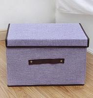 Large Capacity Storage Cubes Linen Fabric Foldable Storage Cube Home Bin Purple/Blue/Pink Organizer