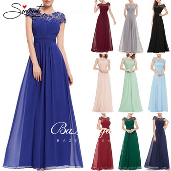 2019 Autumn and Winter New European and American Solid Color Evening Dress Long Dress Chiffon Dress Evening Gown