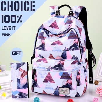 17 18.5inch Casual Water repellent Women Backpack Nylon Travel Back to School bag Student Backpack Teenage Girls Daypack Mochila