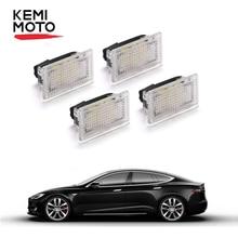 4 sztuk Upgrade oświetlenie wnętrza LED żarówki projekcyjne, Tesla Model 3 Model Y Model S Model X wymiana kryty światło bagażnika światła LED