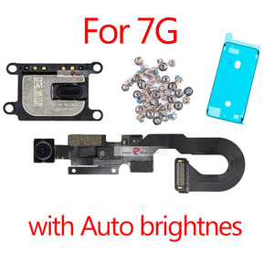 1pcs New Proximity Sensor Light Flex Cable For iPhone 7 8 Plus 5.5 Front Camera with screws earpiece Assembly