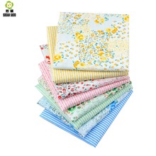 Shuanshuo Floral &Stripe Cotton Fabric Tissue Cloth Of Handmade DIY Quilting Sewing Baby&Children Sheets Dress 40*50cm 8pcs/lot(Hong Kong,China)
