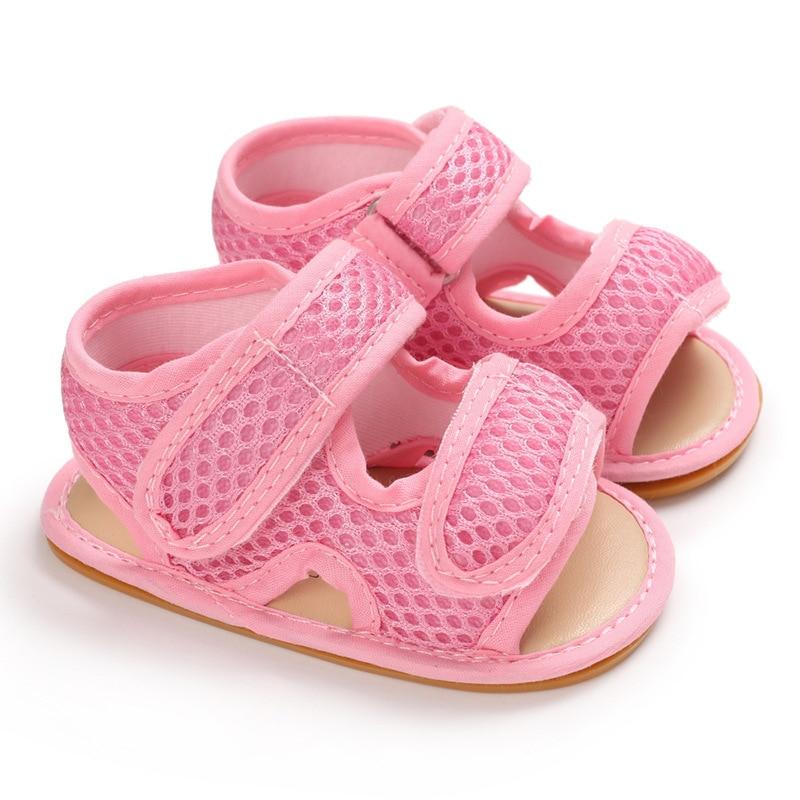 Baby Sandals Toddler Infant Hollow Soft Crib Sole Canvas Shoes Little Girls Boys Kids Soft Crib Prewalker Sandals Clogs