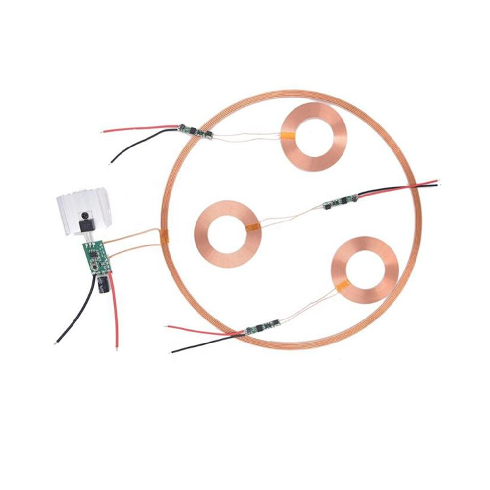 Taidacent 24V Long Distance Litz Wire Coil Induction Charging Inductive Charge Receiver Wireless Battery Charger Circuit Module