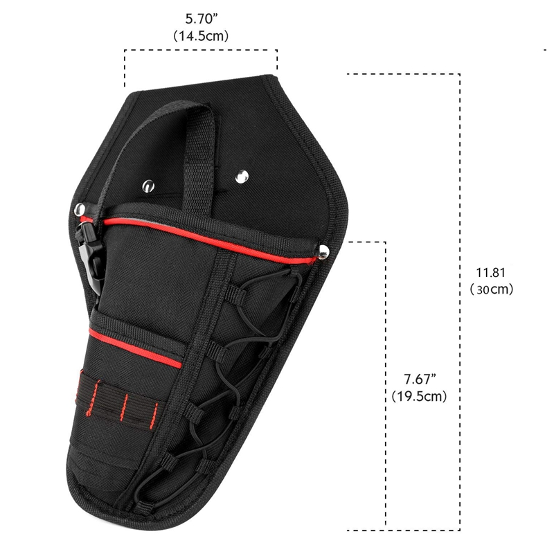 Drill Holster Waterproof Impact Driver Drill Holder Multi-functional Electric Tool Pouch Bag With Waist Belt For Wrench Hammer S