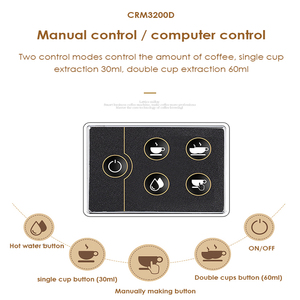 Image 4 - 15bar اسبرسو قهوة تجارية آلة 220V مطعم فندق مقهى باستخدام القهوة صانع LED عرض ماكينة إسبريسو