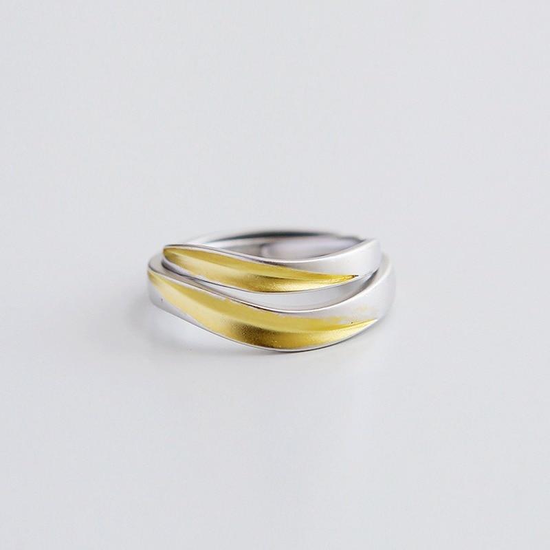 Купить leouerry 925 sterling silver creative matte texture leaf rings